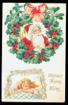 Click here to enlarge image and see more about item 000PC15: Santa Claus over Girl Sleeping 1910 Postcard