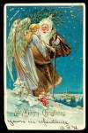 Brown Robe Santa Claus/Father Christmas 1906 Postcard