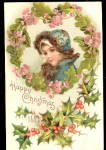 Frances Brundage Christmas Girl 1910 Postcard