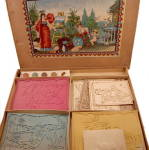 Click here to enlarge image and see more about item 000PLA1: Early 1900s Childrens Stencil Kit - Large