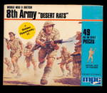 Click here to enlarge image and see more about item 000PLAS13: MPC 8th Army Desert Rats 1/72 Plastic Soldiers
