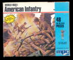 MPC WWI American Infantry 1983 Plastic Soldiers