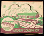 Click here to enlarge image and see more about item 000PLASTICV10: Vintage Plasticville Freight Station Kit in Orig Box