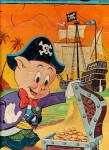 1965 Porky Pig the Pirate Whitman Tray Puzzle