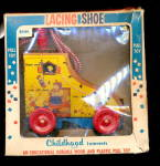 1950s 'Lacing Shoe' Educational Pull Toy in Box