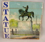 Early 1900s Wooden 'STATUE' Letter Strip Puzzle