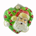 Click here to enlarge image and see more about item 000RAD19: Christopher Radko Holly Jolly Claus Santa Ornament