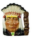 Click here to enlarge image and see more about item 000ROY1: Royal Doulton 'Indian Chief' Character Toby Jug