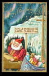 Santa Claus at North Pole 1910 Postcard