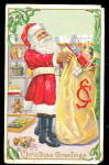 Santa Claus with Bag of Toys 1912 Postcard