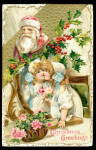Santa Claus with Children Winsch 1910 Postcard
