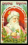 Santa Claus/Father Christmas Pink Robed 1908 Postcard