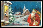 Red Robe Santa Claus with Toys 1908 Postcard