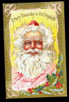 1910 Julius Bien Santa Claus with Beard Postcard