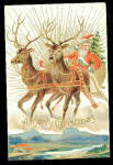 Santa Claus with Reindeer 1907 Postcard