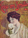 """Keep On Smiling"" Girl 1910 Sheet Music"