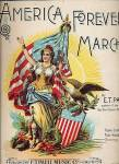 Click here to enlarge image and see more about item 000SHEET62: 1898 'America Forever! March' Patriotic Sheet Music
