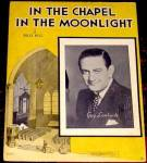 Click here to enlarge image and see more about item 000SHEET6: 1936 'In The Chapel In The Moonlight' Sheet Music