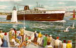 Click here to enlarge image and see more about item 000SHI4: C & O Chessie Passenger Ferry MI & WI 1950s Postcard