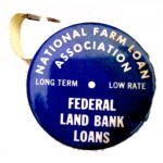 Click here to enlarge image and see more about item 000TAPE2: 1920s Advertising National Farm Loan Tape Measure