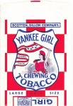 Click here to enlarge image and see more about item 000TOB2: Vintage Yankee Girl Chewing Tobacco Pouch/Bag