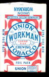 Click here to enlarge image and see more about item 000TOB2: Vintage Union Workman Chewing Tobacco Pouch/Bag