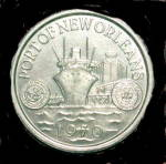 Click here to enlarge image and see more about item 000TOKEN1: 1970 Port of New Orleans Token