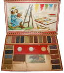 Click here to enlarge image and see more about item 000TOY16: Early 1900s Child's Paint Set in Original Box