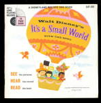 Click here to enlarge image and see more about item 000WD151: 1968 Walt Disney 'Its A Small World Record w Song Book'