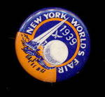 1939 New York World's Fair Pinback
