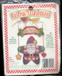 Click here to enlarge image and see more about item 000WIRE1: 1994 Wire Whimsy Santa Claus Craft Kit