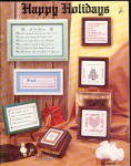 "Click here to enlarge image and see more about item 000XST227: 1979 'Happy Holidays"" Vintage Cross Stitch Booklet"