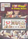 Click here to enlarge image and see more about item 000XST27: 'I Love Hugs' Cross Stitch Patterns - Teddy Bears
