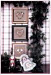 Click here to enlarge image and see more about item 000XST3: 'Merry Hearts I' Christmas Hearts Cross Stitch Chart