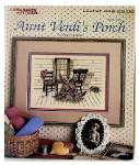 Click here to enlarge image and see more about item 000XST802: Aunt Verdi's Porch 1986 Cross Stitch Booklet