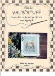 Click here to enlarge image and see more about item 000XSTC3: Val's Stitchin'Stuff- BLESS MY GARDEN- Cross Stitch