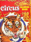 Click here to enlarge image and see more about item CIRCUS12: 1950s Saalfield Circus Coloring Book