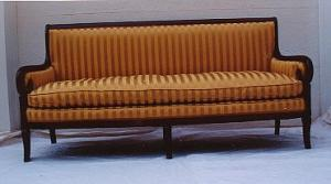 Empire Mahogany Sroll-arm Sofa (Image1)
