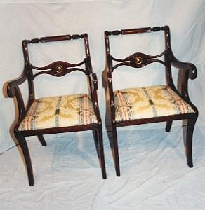 Federal Style Mahogany Armchairs. (Image1)