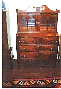 Federal mahogany secretary bookcase (Image1)