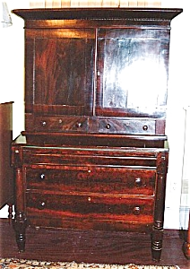 An American Empire mahogany bookcase desk (Image1)