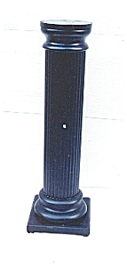 Fluted And Ebonized Pedestal.
