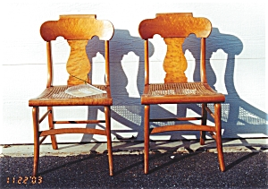 A Pair of Birds Eye Maple Chairs (Image1)