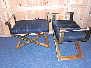 A Pair Of Lucite Benches