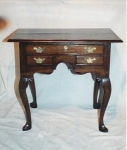 Click here to enlarge image and see more about item 107: English Furniture oak lowboy