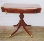 Click here to enlarge image and see more about item 166: New England Mahogany Card table
