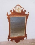 Click here to enlarge image and see more about item 169: American Chippendale Mirror with Eagle