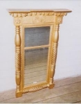 Click here to enlarge image and see more about item 170: Federal Two Part Gilded Mirror