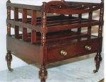 Click here to enlarge image and see more about item 172: English Mahogany Canterbury