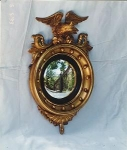 Click here to enlarge image and see more about item 175: Gilded  Convex Mirror